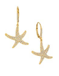 Morris And David Diamonds 14K Yellow Gold Star Earrings