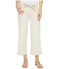 Jag Jeans Wallace Crop In Bay Twill Stone Women's Casual Pants White