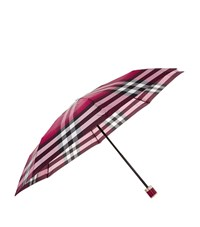 Burberry Shoes And Accessories Peony Rose Print Folding Umbrella Female Red