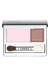 Clinique 'All About Shadow' Eyeshadow Duo Seashell Pink Fawn Satin New