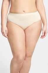 Plus Size Women's Wacoal 'B Smooth' High Cut Briefs Naturally Nude