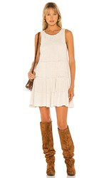 Free People Waterfall Ruffle Dress In Neutral.
