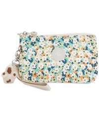 Kipling Creativity Extra Large Cosmetic Pouch Meadow Flower Green