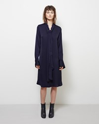 Maison Margiela Line 1 Silk Tie Neck Dress