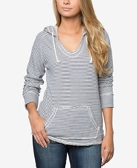 O'neill Juniors Downtown Striped Hoodie A Macy's Exclusive White Blue Striped