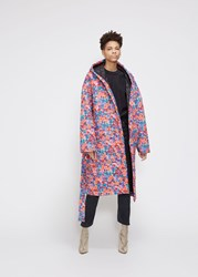 Vetements 'S Padded Coat In Fluo Flowers Size Xs 100 Polyester Fluo Flowers