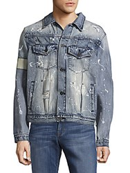 Cult Of Individuality Banded Cotton Jacket White Wash