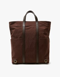Mismo M S Market Tote In Burgundy Dark Brown