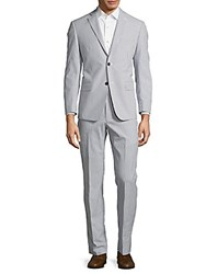 Michael Kors Pinstriped Suit Blue