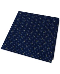 Tommy Hilfiger Men's Flower Pin Dot Pocket Square Yellow
