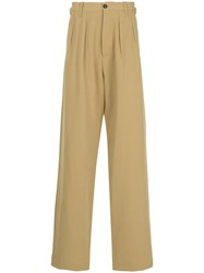 Kent And Curwen High Waisted Loose Fit Trousers Nude And Neutrals