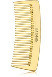 Balmain Paris Hair Couture Gold Plated Pocket Comb One Size