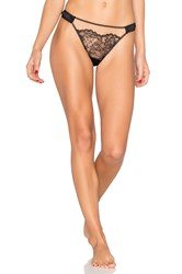 Else Yasmine Silk And Lace Thong Black