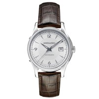 Hamilton H32515555 Men's Jazzmaster Viewmatic Automatic Date Leather Strap Watch Brown Silver