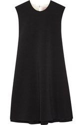 Roksanda Ilincic Fuji Two Tone Cady And Crepe Mini Dress Black