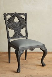 Anthropologie Handcarved Menagerie Owl Dining Chair Black