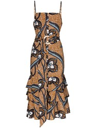 Figue Marina Printed Cotton Slip Dress 60