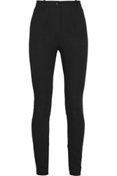 Topshop Unique Maida Stretch Cotton Twill Skinny Pants Black