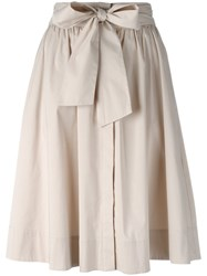 Steffen Schraut Pleated Skirt Nude Neutrals