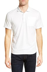 Men's Victorinox Swiss Army Trim Fit Oxford Pique Polo Classic White