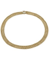 Macy's Byzantine Multi Row Rope Necklace In 14K Gold
