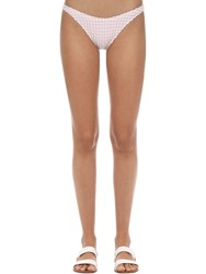 Solid And Striped Eloise Gingham Bikini Bottoms Pink