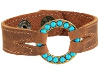 Leather Rock B650 Tobacco Bracelet Brown