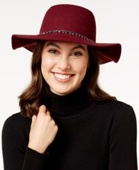Bcbgeneration Dripping With Imitation Pearls Floppy Hat Wine Red