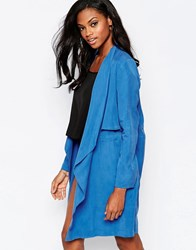 Goldie Stalker Trench Coat Blue