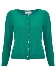 Havren Leona Cropped Cardigan Green