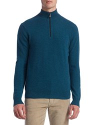 Saks Fifth Avenue Collection High Neck Cashmere Sweater Dark Navy Black Grey Teal Green