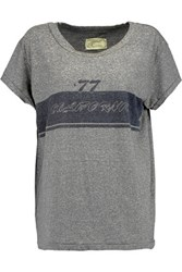 Current Elliott The Crew Neck Printed Jersey T Shirt Anthracite