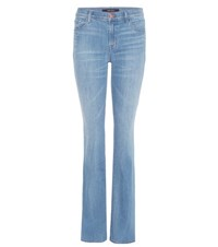 J Brand Brya Mid Rise Boot Cut Jeans Blue