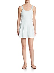 Rebecca Minkoff Anica Pleated Romper Dusty Mint