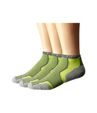 Thorlos Experia Malibu Collection 3 Pair Pack Volt Crew Cut Socks Shoes Black