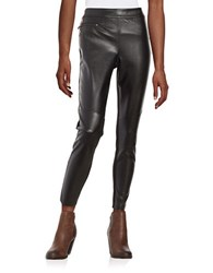 Highline Collective Faux Leather Moto Leggings Black