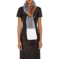 Kule Women's The Louis Colorblocked Rabbit Fur Pull Through Scarf No Color