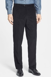 Linea Naturale Washed Corduroy Relaxed Fit Pants Black