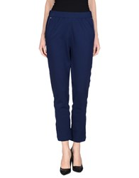 Angelo Marani Trousers Casual Trousers Women Dark Blue