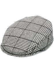 Dolce And Gabbana Checked Hat Grey