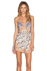 Twelfth St. By Cynthia Vincent Cami Romper Blue