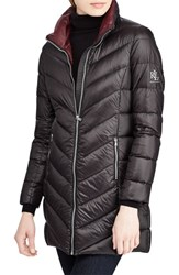 Lauren Ralph Lauren Long Quilted Packable Coat Black
