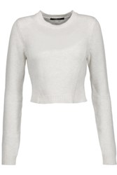 Derek Lam Cropped Cashmere And Cotton Blend Sweater Ivory