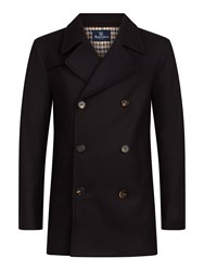 Aquascutum London Crawford Pea Coat Navy