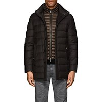 Moorer Down Quilted Wool Cashmere Coat Brown
