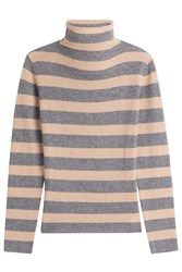 81 Hours By Dear Cashmere Striped Turtleneck Pullover Stripes