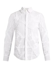 Jupe By Jackie Ruffled Cotton Organdie Shirt White