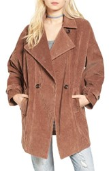 Moon River Women's Double Breasted Corduroy Coat
