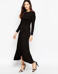 French Connection Winter Snake Print Maxi Dress Black
