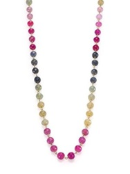 Ron Hami Multicolor Sapphire And 18K Yellow Gold Beaded Strand Necklace Gold Multi